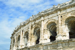 Nimes Roman Arenas detail, Provence, France Stock Photos