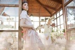 Nimf in de tuin Royalty-vrije Stock Foto