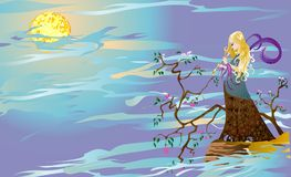 Nimf van dromen royalty-vrije illustratie