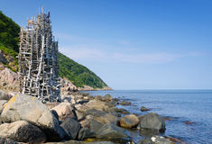 Nimis tower on the coast Royalty Free Stock Image