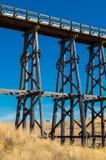 Nimmon's Bridge near Ballarat, Australia. Historic Nimmon's Bridge, a disused wooden trestle railway bridge near Ballarat, Australia Royalty Free Stock Images