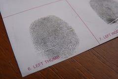 Nimmt von Prüfung Fingerabdrücke Stockfotografie