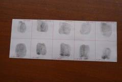 Nimmt von Prüfung Fingerabdrücke Lizenzfreie Stockfotografie