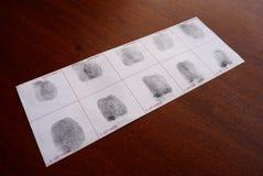 Nimmt von Prüfung Fingerabdrücke Lizenzfreie Stockbilder