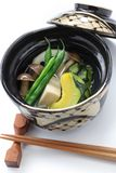 Nimono, authentic japanese cuisine. Nimono is a simmered dish in Japanese cuisine Royalty Free Stock Images