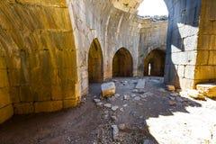 Nimrod Fortress i Israel Royaltyfri Fotografi
