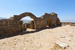 Nimrod Fortress i Israel Arkivfoto