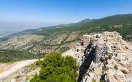 Nimrod Fortress i Israel Arkivbild