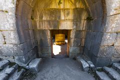 Nimrod Fortress in Israel Stockfotos