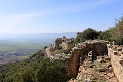 Fortress Nimrod - a castle on the Great Rock in the north of Israel royalty free stock photos