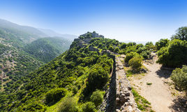 Nimrod Fortress in Israel Stock Images