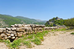 Nimrod Fortress in Israel Stock Image