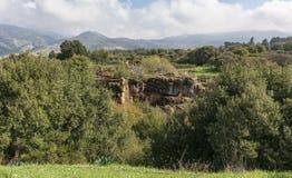 Nimrod Fortress nahe von den Banyas-Fällen lizenzfreies stockbild
