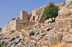 Nimrod Fortress. (Nothern Israel.) Royalty Free Stock Image