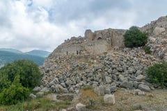 Nimrod Fortress Remains lizenzfreie stockfotografie
