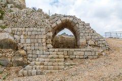 Nimrod Fortress Remains lizenzfreie stockfotos