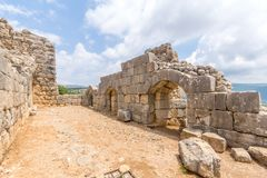 Nimrod Fortress Remains stock photos