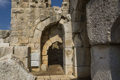 Nimrod Fortress Ruins gate Stock Photography