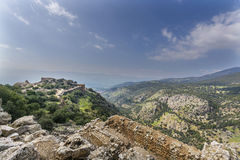Nimrod Fortress Ruins stock images