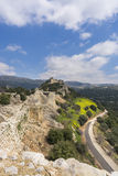 Nimrod Fortress Ruins towers and wall Stock Photos