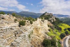 Nimrod Fortress Ruins towers and wall Royalty Free Stock Images