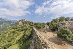 Nimrod Fortress Ruins towers and wall Stock Photo