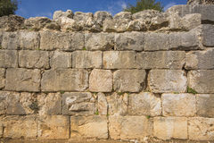Nimrod Fortress Ruins wall Stock Images
