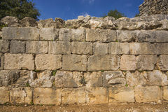Nimrod Fortress Ruins wall Royalty Free Stock Photos