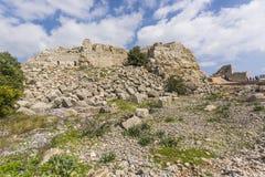 Nimrod Fortress Ruins wall Stock Photography