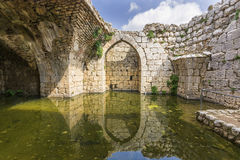 Nimrod Fortress Ruins Water Reservoir Royalty Free Stock Images