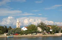 Nin克罗地亚古老城镇  免版税库存照片