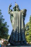 Nin的雕塑克罗地亚主教Gregorius 图库摄影