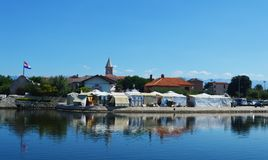 Nin, uma cidade croata Foto de Stock Royalty Free