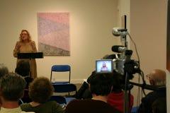 Nina Cassian - lectura de la poesía Imagen de archivo libre de regalías