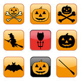 Nine Apps Icon for Halloween, vector illustration Royalty Free Stock Photos
