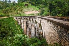 Nine Arches Bridge, Demodara Sri Lanka stock photos
