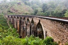 Nine Arches Bridge in Sri Lanka, Ella. Royalty Free Stock Image