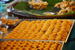 Nine auspicious Thai desserts name JAH MONGKUT Royalty Free Stock Photography