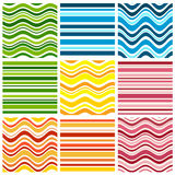 Nine background with stripe Stock Image