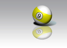 Nine Ball Royalty Free Stock Photography