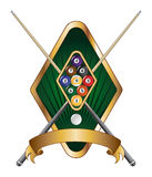 Nine Ball Emblem Design Banner Royalty Free Stock Photos
