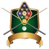 Nine Ball Emblem Design Shield Royalty Free Stock Image