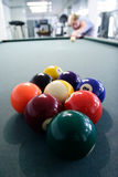 Nine ball pool rack stock photography