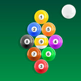 Nine Ball Pool Rack Royalty Free Stock Image