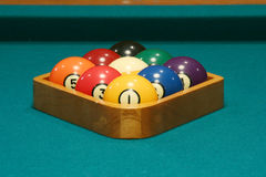 Nine ball rack Royalty Free Stock Photos
