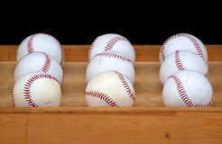 Nine Baseballs Royalty Free Stock Photos