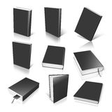 Nine black empty book template Royalty Free Stock Image