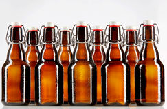 Nine blank bottles with copy space Stock Images