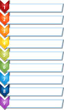 Nine blank business diagram chevron list illustration Royalty Free Stock Image