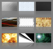 Nine Business Cards Assortment Royalty Free Stock Photos